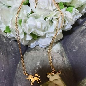 Unicorn necklaces Very Cute the Gold toned is 925